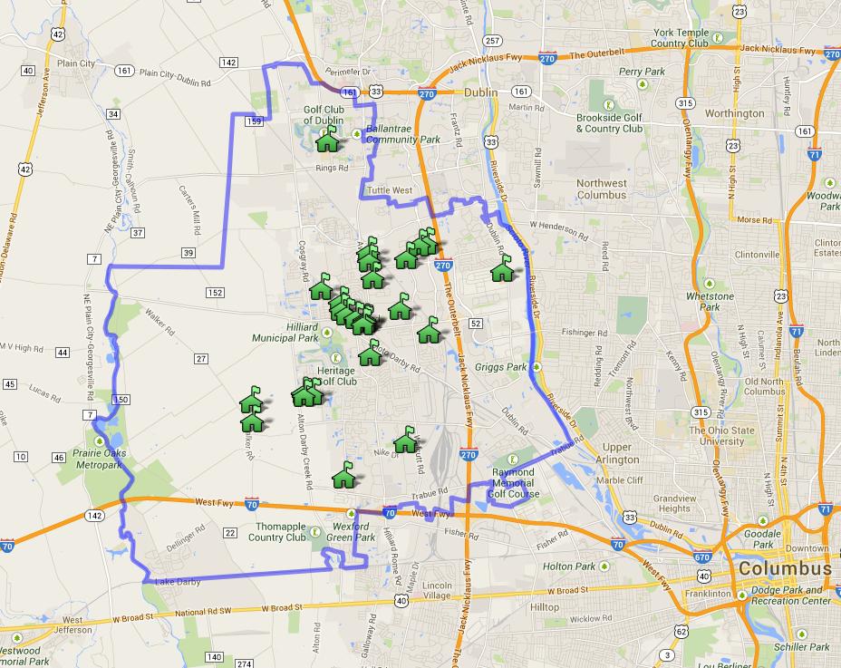 Hilliard City School District Map