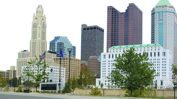Columbus, OH downtown skyline